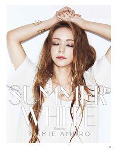 安室奈美恵が着る夏の白。 SUMMER WHITE featuring NAMIE AMURO ViVi July 2015, photographer: TISCH  http://lovenhanced.tumblr.com