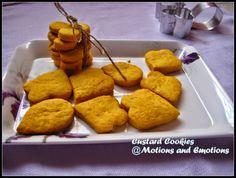 Motions and Emotions: Custard Cookies / Mango Flavoured Custard Cookies