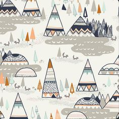 Woodland in Oak, Indian Summer Fabric by Sarah Watson for Art Gallery Fabrics, at fabricbubb.com