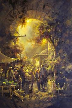 (Turkey) by Remzi Taskiran ). born in Adiyaman in Turkey. Great Paintings, Landscape Paintings, Energy Pictures, Turkish Art, Antique Paint, Sculpture, Art World, Figurative Art, Great Artists