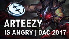 Arteezy is Angry!!! EG vs Faceless DAC 2017 Dota 2