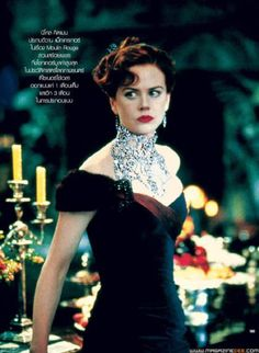 Stefano Canturi Satine Necklace and Moulin Rouge! - Stefano Canturi Satine Necklace and Moulin Rouge (Photo Nicole Kidman Moulin Rouge, Satine Moulin Rouge, Period Costumes, Movie Costumes, Ballet Costumes, Best Black, Long Black, The Costumer, Fashion Tv