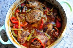 Pioneer Woman - Chicken Cacciatore. I have not made this yet, but I have made something similar. This would be a great slow cooker recipe to prep ahead. Freeze all the ingredients in a bag to dump in the slow cooker one day. I will add notes once I make it.