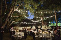 Al Fresco Dinner Wedding Reception with lots of white flowers! On SMP: http://www.stylemepretty.com/texas-weddings/2013/11/19/dallas-wedding-from-shaun-menary-photography-caroline-events | Photo: Shaun Menary