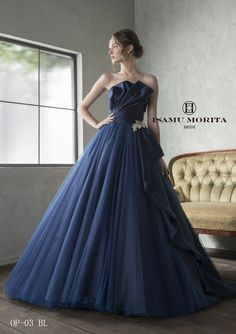 Pin by Reona Hqe on Dresses: Fantasy and Random in 2019 Royal Dresses, Blue Wedding Dresses, Wedding Dress Sleeves, Wedding Dress Styles, Ball Dresses, Bridesmaid Dresses, Prom Dresses, Fantasy Gowns, Ballroom Dress