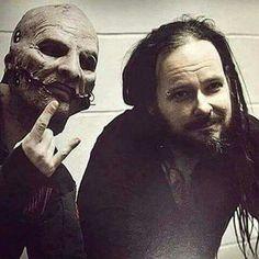 Cory (slipknot) with Jon. (Korn)