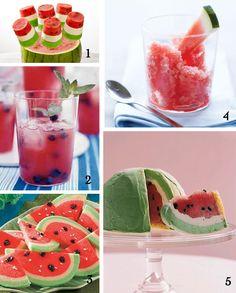 Watermelon recipes - I made the watermelon granita, it is wonderful!