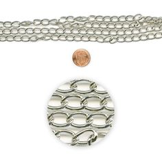 Blue Moon Beads Chain 30In Metal Curb Silver