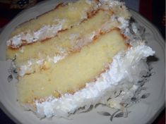 Makes an triple layer cake INGREDIENTS: For the cake: 5 large egg whites ½ cup of milk 2 teaspoons of vanilla extract 3 cups of cake flour 2 and cup sugar 4 ½ teaspoons of baking powder ½ teaspoon of salt 2 sticks Southern Coconut Cake Recipe, Coconut Recipes, Recipe For Coconut Cake, Cake Flour Recipe, Coconut Cakes, Cream Cheese Buttercream Frosting, Coconut Frosting, Cake Recipes, Dessert Recipes