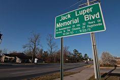 Jack Luper memorial signs in place along Joyce Boulevard