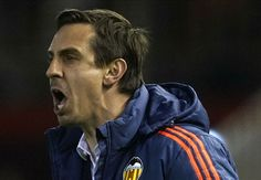 Effigy of Gary Neville burned at the stake by Valencia fans