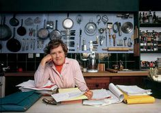 Only Julia Childs could make pegboard stylish