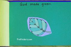 """God Made Colors"" book - Creation activity for Christian Preschool programs"