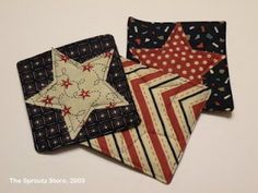 The Sproutz Store - Adventures in Fabric and Sewing: Patriotic Star Coasters Tutorial
