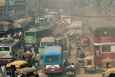 The city of Dhaka in Bangladesh. The city has grown from a town of 300,000 people in the 1950s to a megacity of over 12 million, and its infrastructure is inadequate, weak and unreliable.