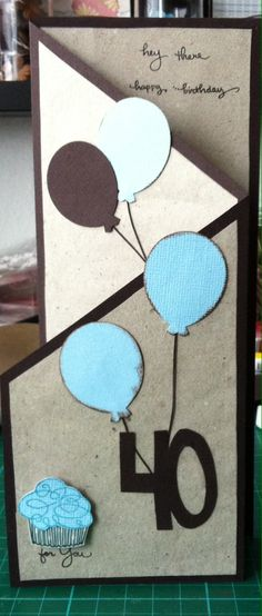 Card for my cousin - for his 40th birthday. Simple card...