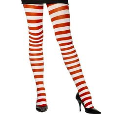 Candy Canes Tights Adult Costume Accessory