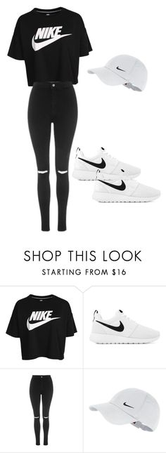 """""""Nike ✔"""" by foreversamiah on Polyvore featuring NIKE and Topshop"""