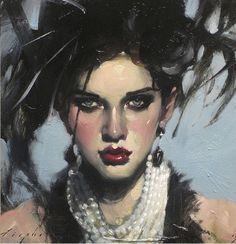 Pearls And Earrings - Malcolm T. Liepke