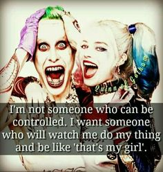 Suicide Squad Quote ~Joker & Harley Quinn