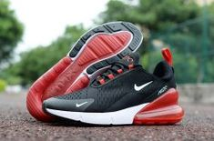 huge discount ab09a 359be Latest Style Nike Air Max 270 Black Red White Trainer Men s Running Shoe  Zapatos De Correr