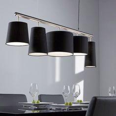 Eettafel lamp zwart Santa Parte