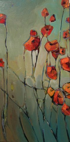 www.jillvansickle.com  artwork, painting, poppies, floral, art, abstract, bright