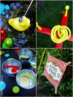 Ring toss, go fishing for ducks :), etc circus carnival party games