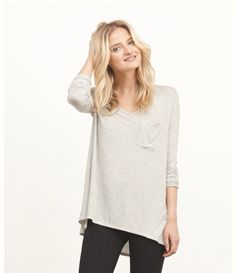 Long tee and leggings, casual outfit