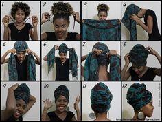 Forma de ponerte un turbante #afroestilo.  Rescatando nuestras raíces: Las mujeres en África usan estos atuendos en importantes ceremonias espirituales por lo que el turbante es un accesorio de respeto y tradición.  #Afro #Africa #Turbante #BellezaNegra #Raices #headwrap #turban