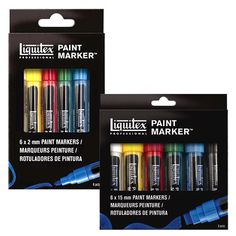 Artist quality acrylic paint marker sets and replacement nibs!