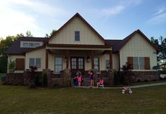 Stephanie's house and kids playing! April, 2015