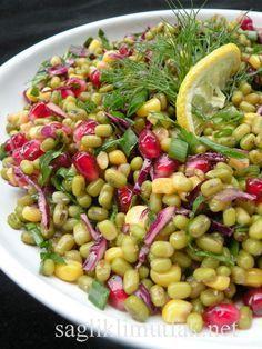 Narlı Maş Fasulyesi Salatası  HUZUR SOKAĞI (Yaşamaya Değer Hobiler)