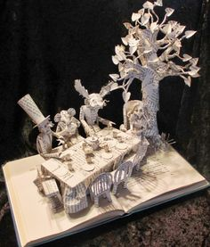 Sue Blackwell - Alice - Book Cut Sculpture