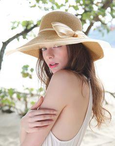 #AdoreWe #VIPme Hats & Caps - Designer Thantrue Light Coffee Elegant Wide Brim Summer Holiday's Floppy Sun Hat - AdoreWe.com