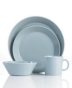 Iittala Dinnerware, Teema Gray Collection - Casual Dinnerware - Dining & Entertaining - Macy's
