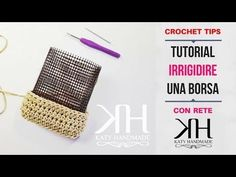 Come foderare una borsa all& Crochet Handbags, Crochet Purses, Canvas Purse, Round Bag, Plastic Canvas Crafts, Knitted Bags, Diy Crochet, Handmade Bags, Bead Weaving
