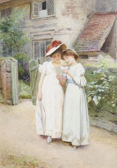 Confidences (1904). Carlton Alfred Smith, RI, RBA, ROI (British, 1853-1946). Watercolour.