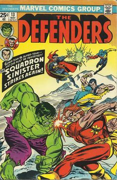 "Defenders vol.1 # 13, ""For Sale: One Planet -- Slightly Used!"" (May, 1974). Cover by Gil Kane & Joe Sinnott."