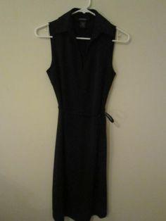 """Express"" Black Sleeveless Dress...Day or Night Little Black Dress Size 3/4"