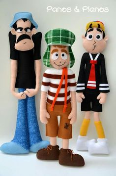 Turma do chaves feltro