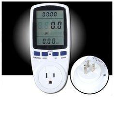 Medidor de Consumo eléctrico Multifunciones 120 Volts AC 15 Amperes