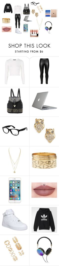 """bad girl"" by natashaasante on Polyvore featuring Topshop, Studio, Speck, Ray-Ban, Kate Spade, Charlotte Russe, NIKE, adidas, Forever 21 and Frends"