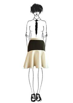 Midi, slightly asymmetric black and white skirt Black And White Skirt, White Skirts, Roman Holiday, Skater Skirt, Ballet Skirt, Collection, Vintage, Fashion, Moda