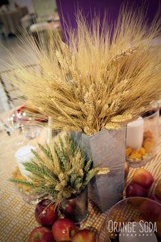 wheat centerpiece, wedding ideas, Fall wedding centerpiece, Autumn wedding ideas, apple wedding, wheat wedding