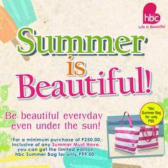 Be #beautifuleveryday even under the sun! #hbcSummerisBeautiful