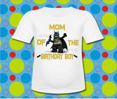 Lego Batman Mom of the Birthday Boy T Shirt by ClearlyDadPrints