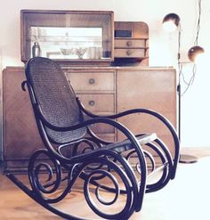 My old rocking chair and art deco dresser