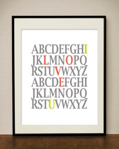 I love you  Printable Digital Art Print by classicology on Etsy, $5.00 - or just use word ;)