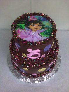 Birthday Cake Dora The Explorer Pink @Jim Ekhardt Woods